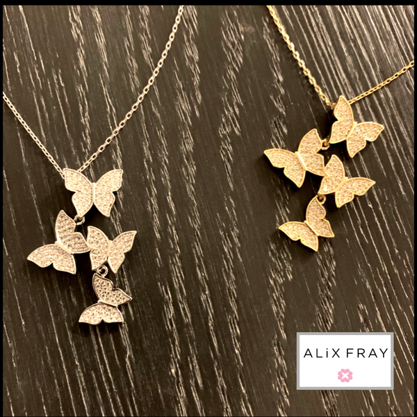 Multi Butterfly Necklace