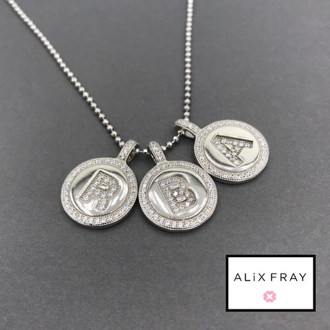 Circle Initial Charm Necklace