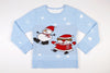 Adult Ugly Christmas Sweater Wobbly Snowman