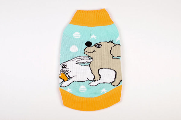 Dog Easter Sweater - Dog Humping Rabbit