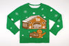 Adult Ugly Christmas Sweater Gingerbread Home Invasion