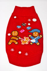 Dog Ugly Christmas Sweater - Gingerbread Dog Attack