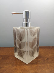 Brown leaves soap dispenser
