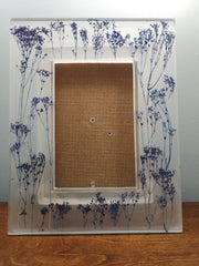 Purple field flowers picture frame