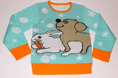 Adult Easter Sweater - Dog Humping Rabbit