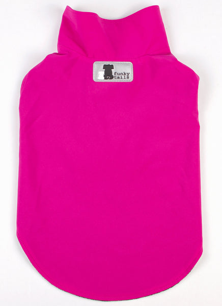 Soft Shell Dog Raincoat Fuchsia