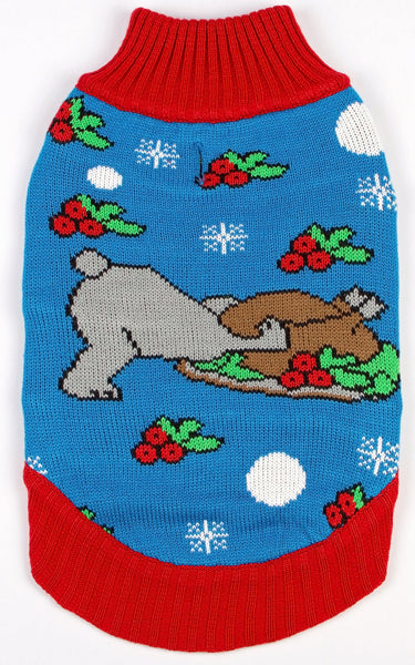 Dog Ugly Christmas Sweater Turdogen