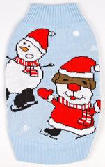 Dog Ugly Christmas Sweater - Wobbly Snowman