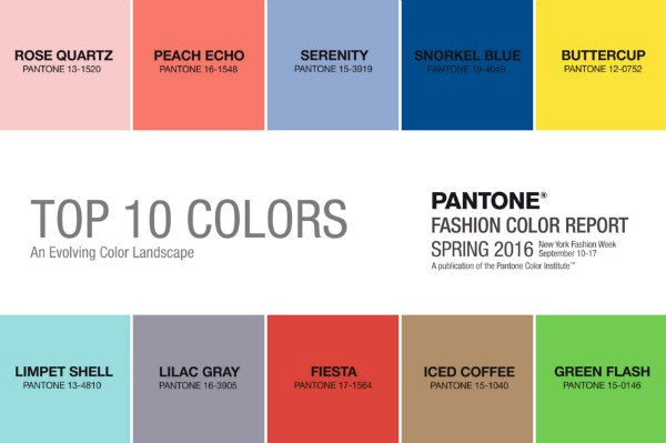 Colour Trends of the Year - 2016 | What colours are you drawn to? And why?
