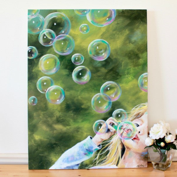 Take Time to Blow Bubbles | New Painting