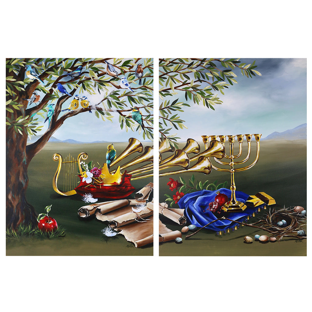 1 & 2 Chronicles | The Son of David & The Royal Throne - Prophetic Christian Fine Art by Mindi Oaten Art
