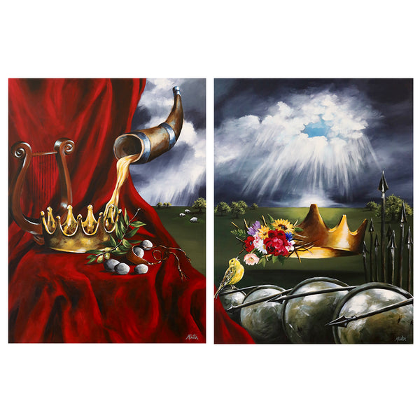 1 & 2 Samuel | The Anointed One & The Eternal Throne - Prophetic Christian Fine Art by Mindi Oaten Art