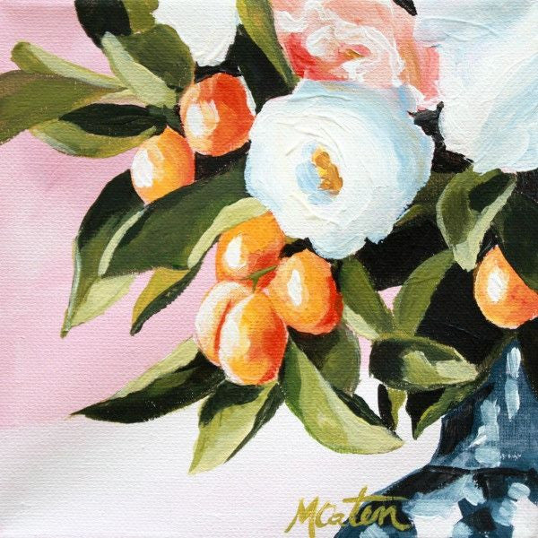 Blush Floral & Fruit - Fine Art Print - Prophetic Christian Fine Art by Mindi Oaten Art