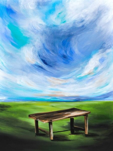 Come to the Table - Fine Art Print - Prophetic Christian Fine Art by Mindi Oaten Art