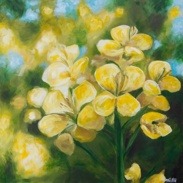 Mustard Flower - Fine Art Print - Prophetic Christian Fine Art by Mindi Oaten Art