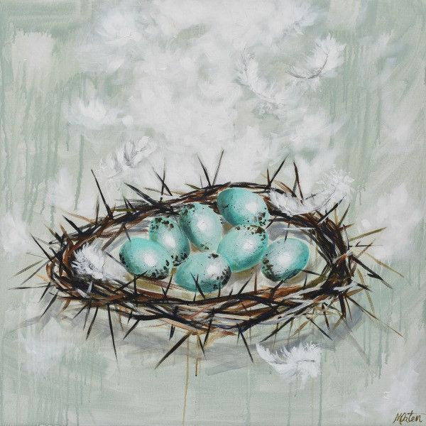 Resurrection Life - Fine Art Print - Prophetic Christian Fine Art by Mindi Oaten Art
