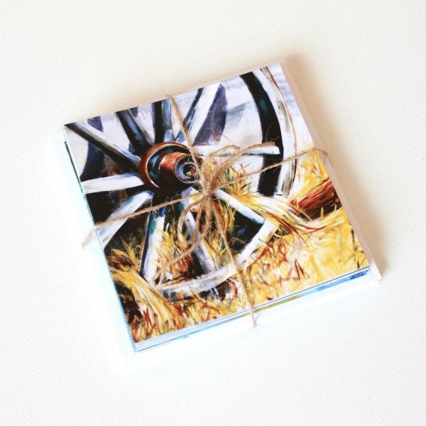 'Wagon Wheel | reviveTX' Assorted Note Cards - Set of 13 - Mindi Oaten Art