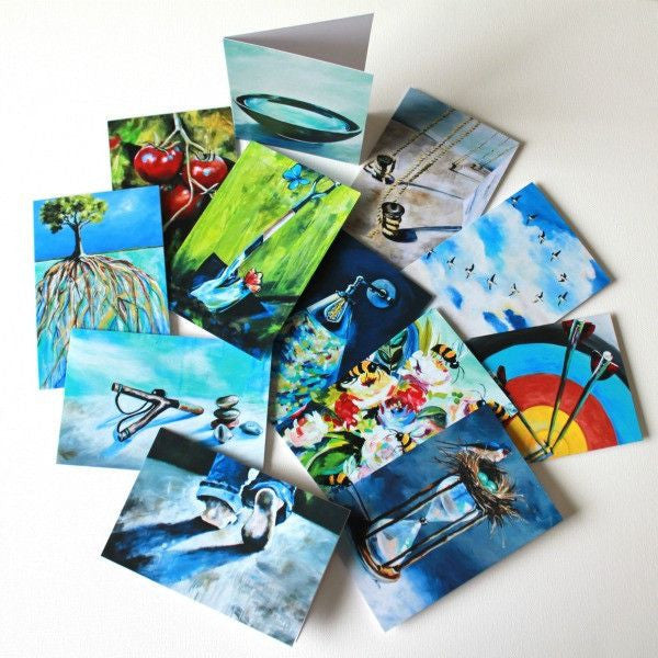 """Light in the Dark"" Assorted Note Cards - Set of 12 - Prophetic Christian Fine Art by Mindi Oaten Art"