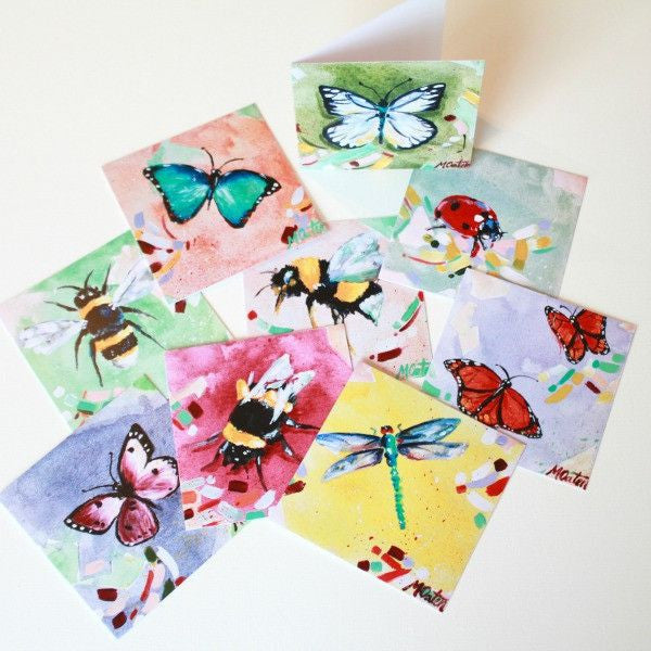 """Garden with Wings"" Assorted Note Cards - Set of 9 - Prophetic Christian Fine Art by Mindi Oaten Art"
