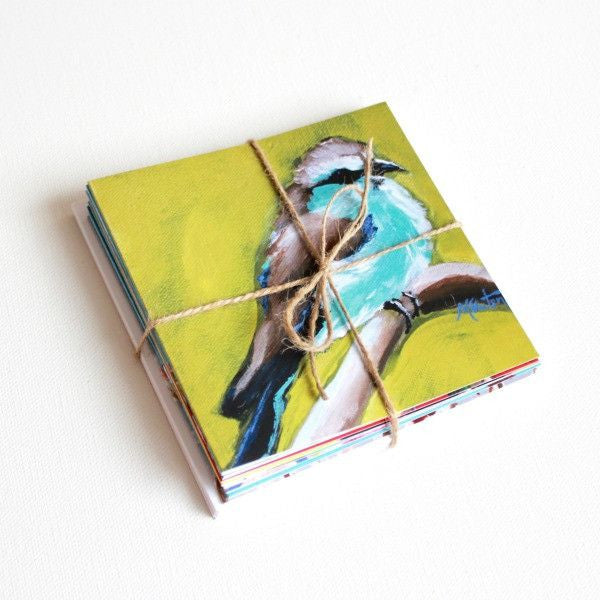 'Birdsong' Assorted Note Cards - Set of 10 - Mindi Oaten Art