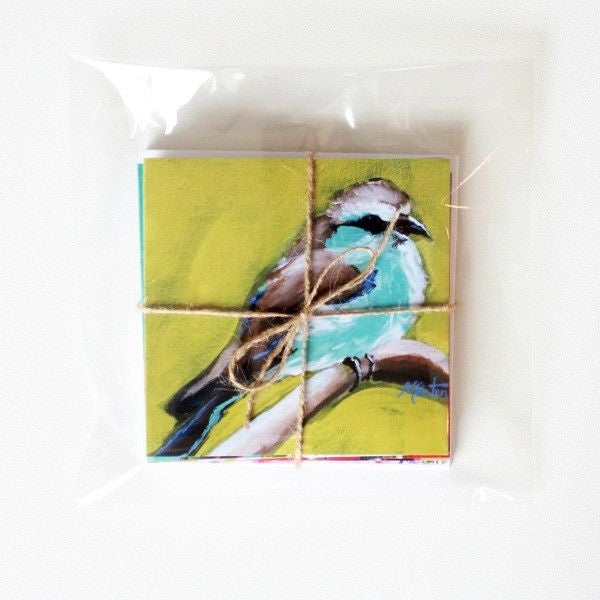 """Birdsong"" Assorted Note Cards - Set of 12 - Prophetic Christian Fine Art by Mindi Oaten Art"