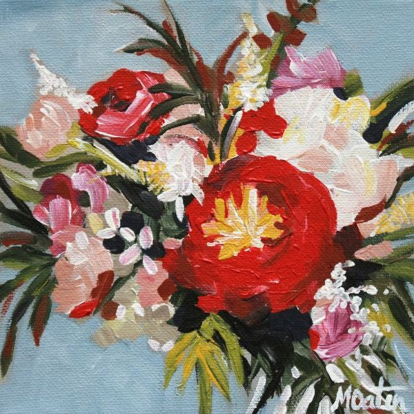 Riverside Bouquet - Fine Art Print - Prophetic Christian Fine Art by Mindi Oaten Art