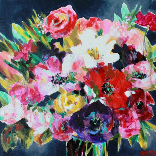 """Brighten Any Day"" 20 x 20 inches acrylic painting on canvas - Prophetic Christian Fine Art by Mindi Oaten Art"