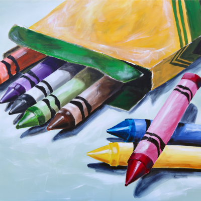 Crayon Box - Fine Art Print - Prophetic Christian Fine Art by Mindi Oaten Art