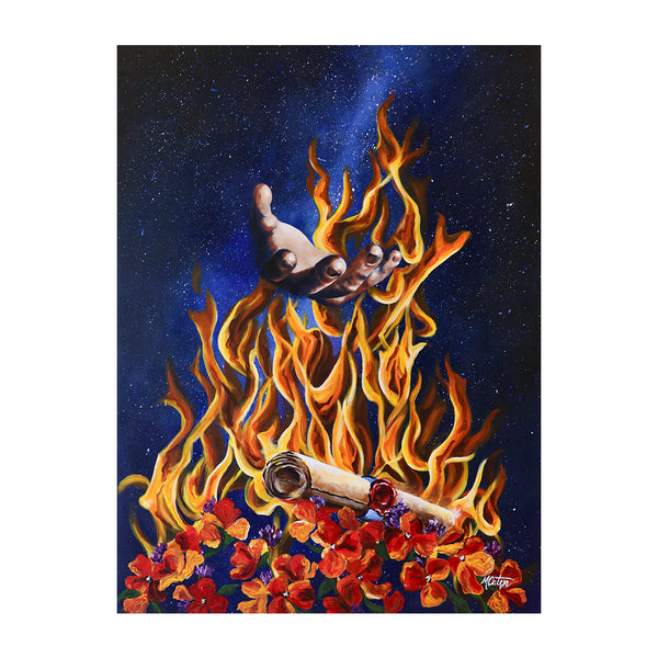 Daniel | In the Fire with Us - Prophetic Christian Fine Art by Mindi Oaten Art