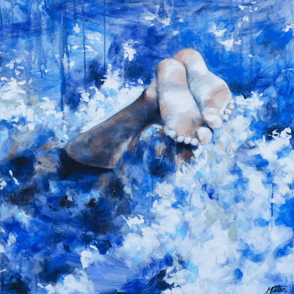 Diving In - Fine Art Print - Prophetic Christian Fine Art by Mindi Oaten Art
