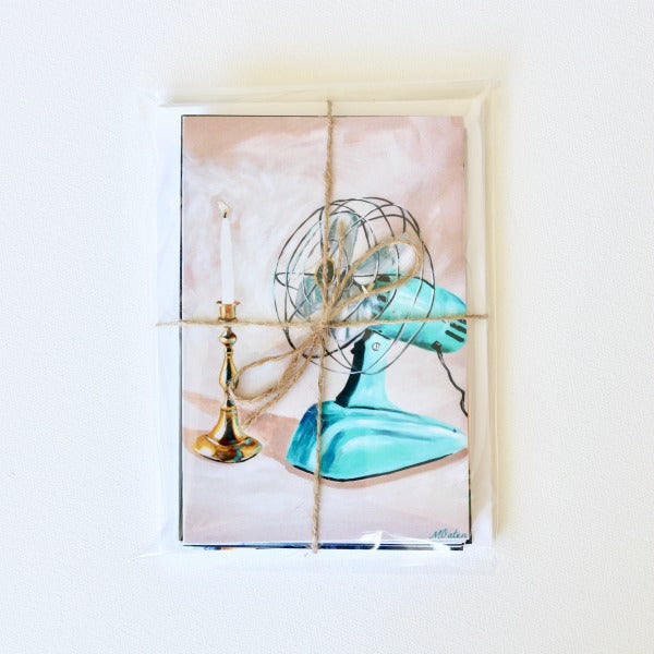 """Fan the Flame"" Assorted Note Cards - Set of 12 - Prophetic Christian Fine Art by Mindi Oaten Art"