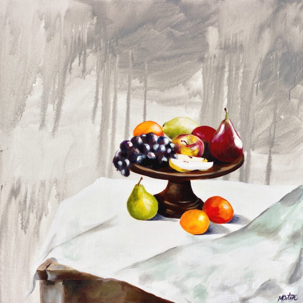 Fruit at the Table - Fine Art Print - Prophetic Christian Fine Art by Mindi Oaten Art
