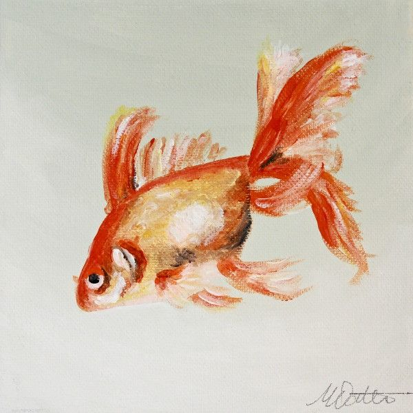 Goldfish | Day 19 - Fine Art Print - Prophetic Christian Fine Art by Mindi Oaten Art