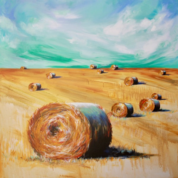 Hay Bales - Fine Art Print - Prophetic Christian Fine Art by Mindi Oaten Art