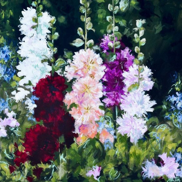 Hollyhocks - Fine Art Print - Prophetic Christian Fine Art by Mindi Oaten Art