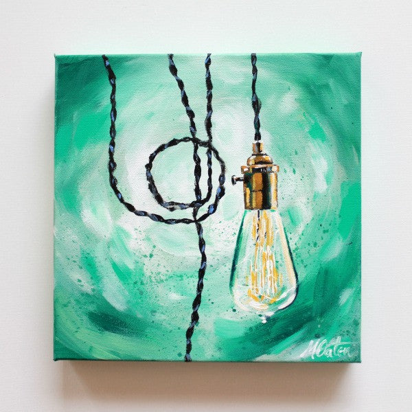 """Illuminate 2"" 10 x 10 inches acrylic painting on canvas - Prophetic Christian Fine Art by Mindi Oaten Art"