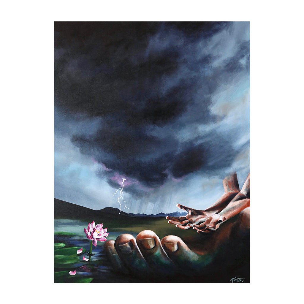 Job | Our Mediator - Prophetic Christian Fine Art by Mindi Oaten Art