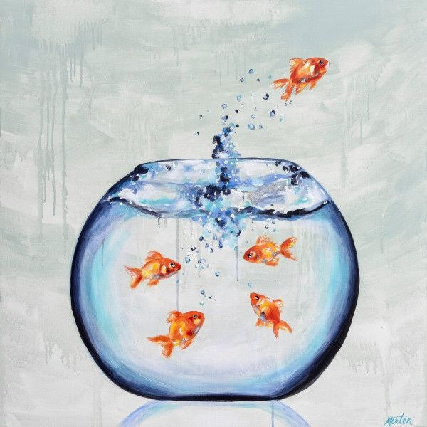 Jumping Out - Fine Art Print - Prophetic Christian Fine Art by Mindi Oaten Art