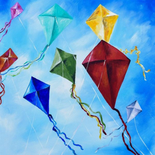 Kites - Fine Art Print - Prophetic Christian Fine Art by Mindi Oaten Art