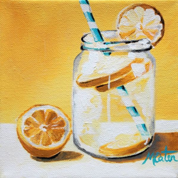Lemon Water - Fine Art Print - Prophetic Christian Fine Art by Mindi Oaten Art