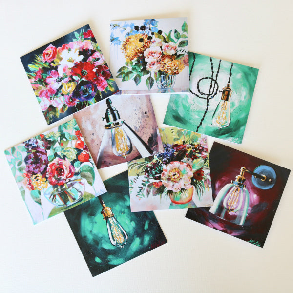 """Light & Life"" Assorted Note Cards - Set of 8 - Prophetic Christian Fine Art by Mindi Oaten Art"