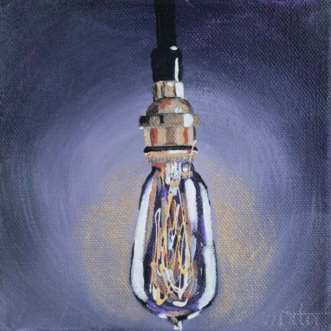 Light Bulb | Day 29 -Fine Art Print - from $20 , Painting - Mindi Oaten Art, Mindi Oaten Art