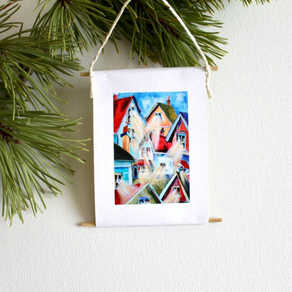 """Me and My House"" - mini collectible - Prophetic Christian Fine Art by Mindi Oaten Art"