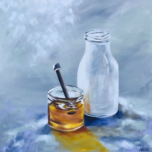 Milk and Honey - Fine Art Print - Prophetic Christian Fine Art by Mindi Oaten Art
