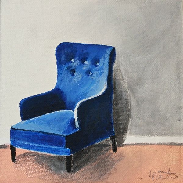 Blue Chair | Day 21 - Fine Art Print - Prophetic Christian Fine Art by Mindi Oaten Art