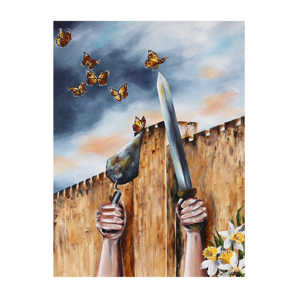 Nehemiah | The Builder who Restores - Prophetic Christian Fine Art by Mindi Oaten Art