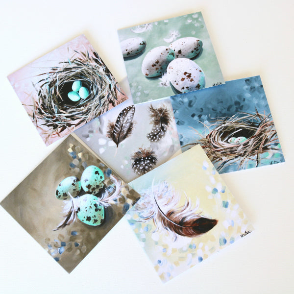 """Nest & Eggs"" Assorted Note Cards - Set of 12 - Prophetic Christian Fine Art by Mindi Oaten Art"