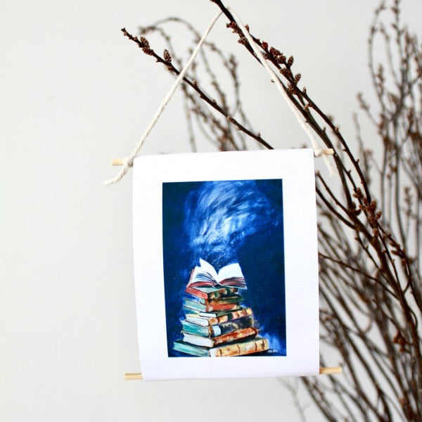 """Open the Books"" - mini collectible - Prophetic Christian Fine Art by Mindi Oaten Art"