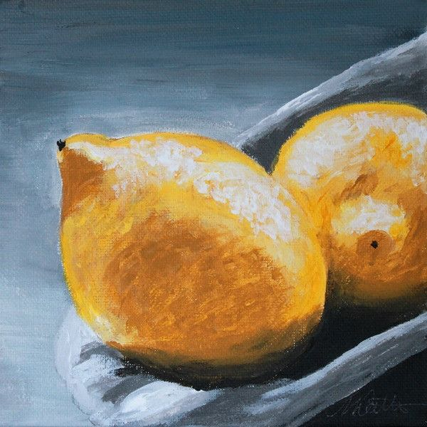 Lemons | Day 1 - Fine Art Print - from $20 - Mindi Oaten Art