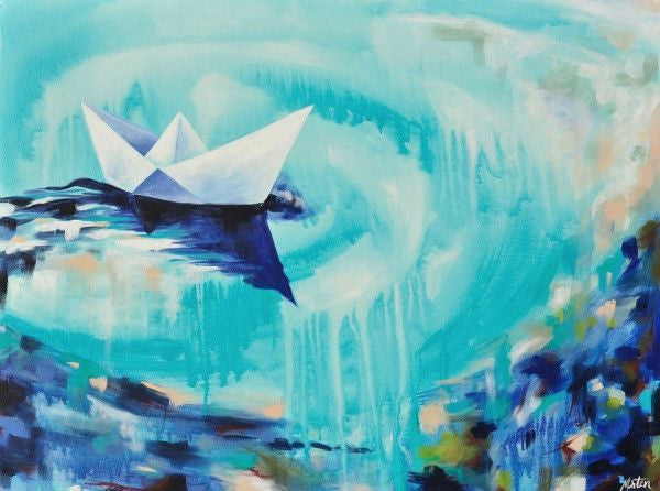 Paper Boat - Fine Art Print - Prophetic Christian Fine Art by Mindi Oaten Art